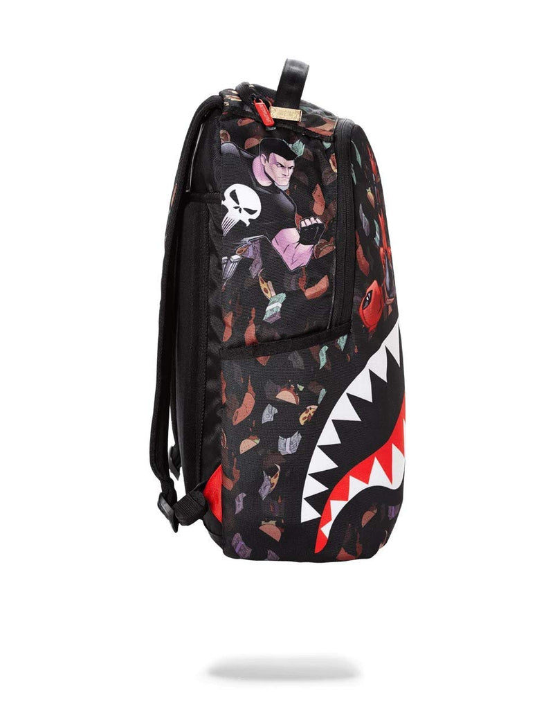 SPRAYGROUND BACKPACK DEADPOOL TACO$ RAIN SHARK - backpacks4less.com