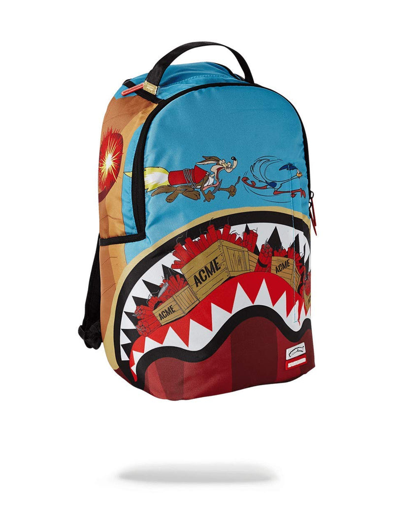 SPRAYGROUND BACKPACK COYOTE VS ROADRUNNER SHARK - backpacks4less.com