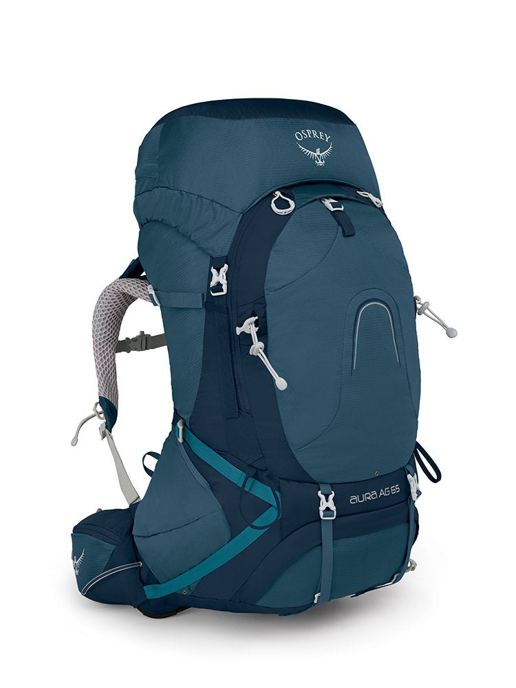 Osprey Packs Pack Aura Ag 65 Backpack, Challenge Blue, X-Small - backpacks4less.com