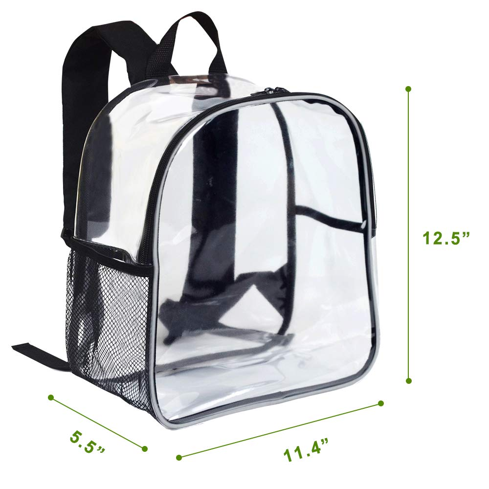 Stadium Approved Clear Mini Backpack - Heavy Duty Reflective Transparent Backpack for Concert, Security Travel &Sports - backpacks4less.com