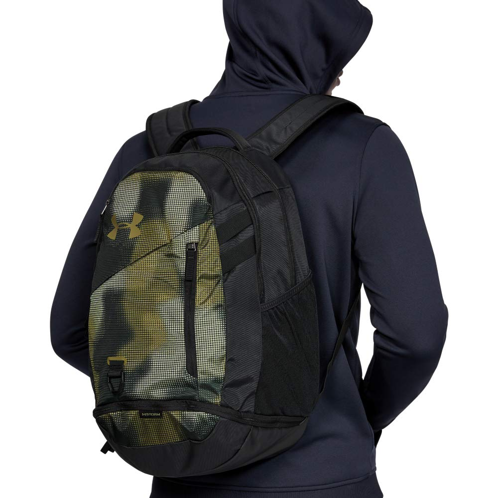 Under Armour Hustle 4.0 Backpack, Range Khaki (237)/Outpost Green, One Size Fits All - backpacks4less.com