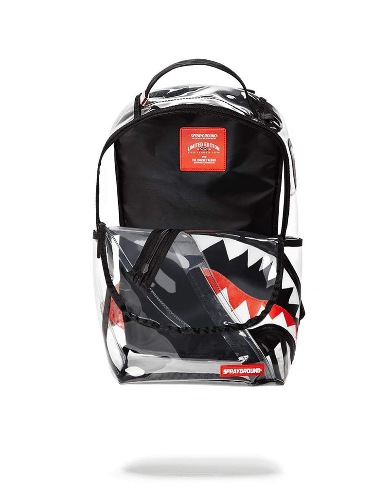 SPRAYGROUND BACKPACK ANGLED 20/20 VISION SHARK - backpacks4less.com