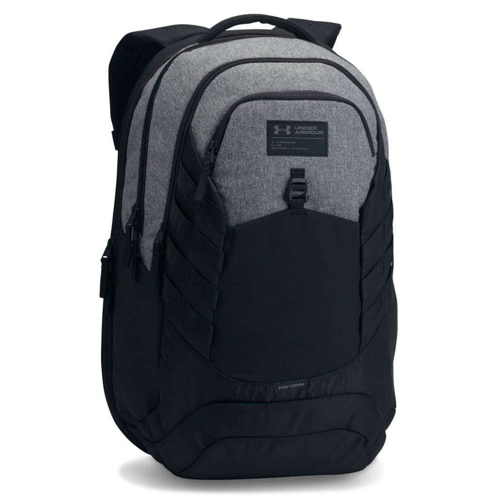 Under Armour Hudson Backpack, Graphite (040)/Black, One Size Fits All Fits All - backpacks4less.com