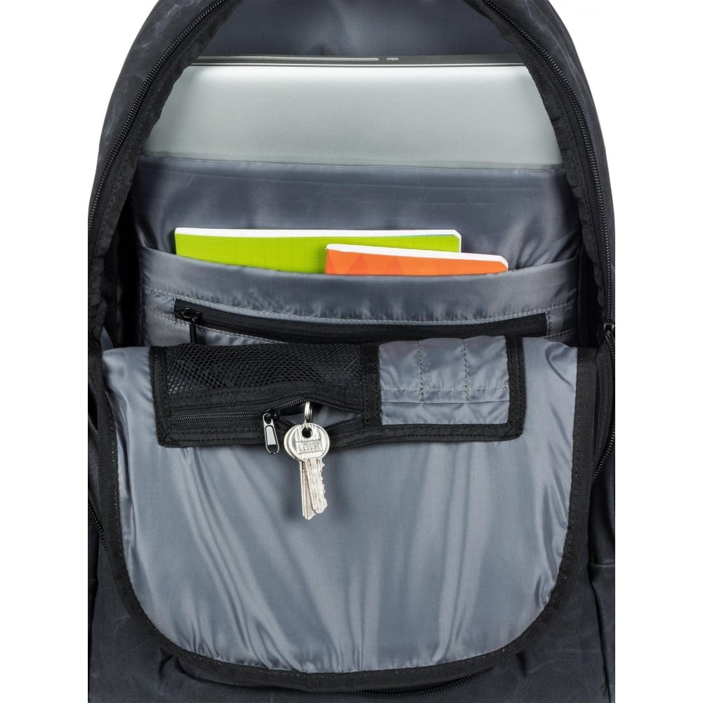 Quiksilver Schoolie Plus 25L Backpack One Size Oldy Black - backpacks4less.com