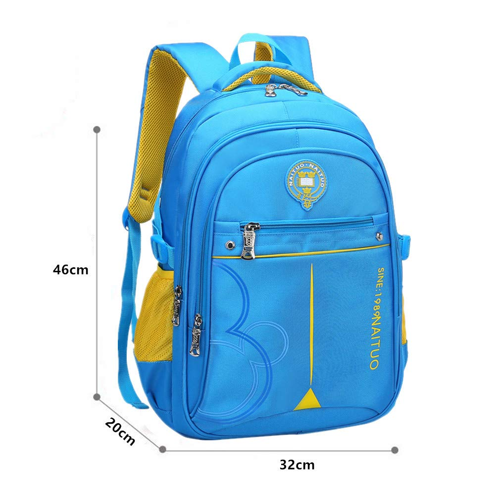 Ladyzone Camo School Backpack Lightweight Schoolbag Travel Camp Outdoor Daypack Bookbag for Your Children (Sky Blue 2) - backpacks4less.com