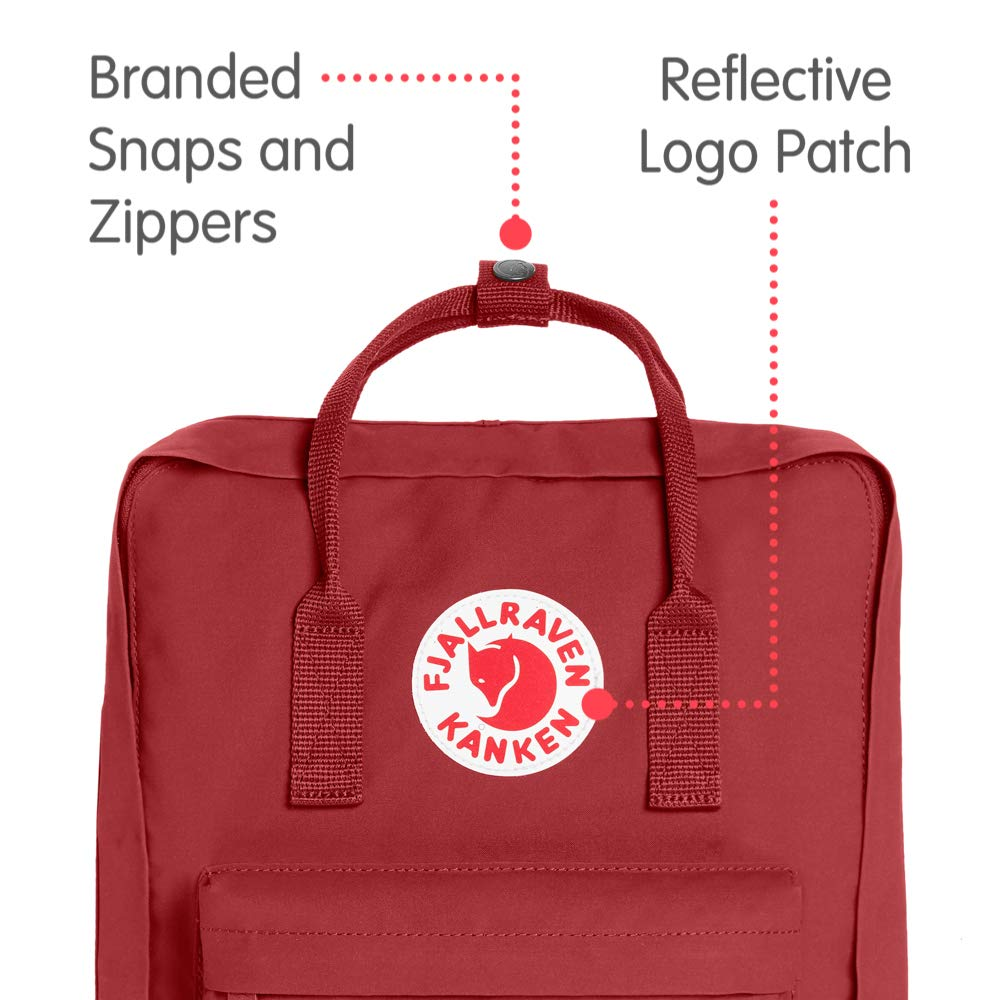 Fjallraven - Kanken Classic Backpack for Everyday, Deep Red - backpacks4less.com
