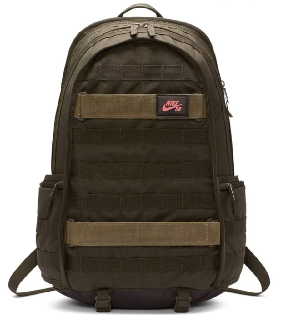 Nike Mens SB PREMIUM BACKPACK SOLID BA5403-223 - MEDIUM OLIVE/SEQUOIA/EMBER GLOW - backpacks4less.com