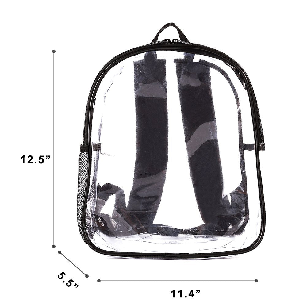 Stadium Approved Clear Mini Backpack Heavy Duty Transparent Concert Security
