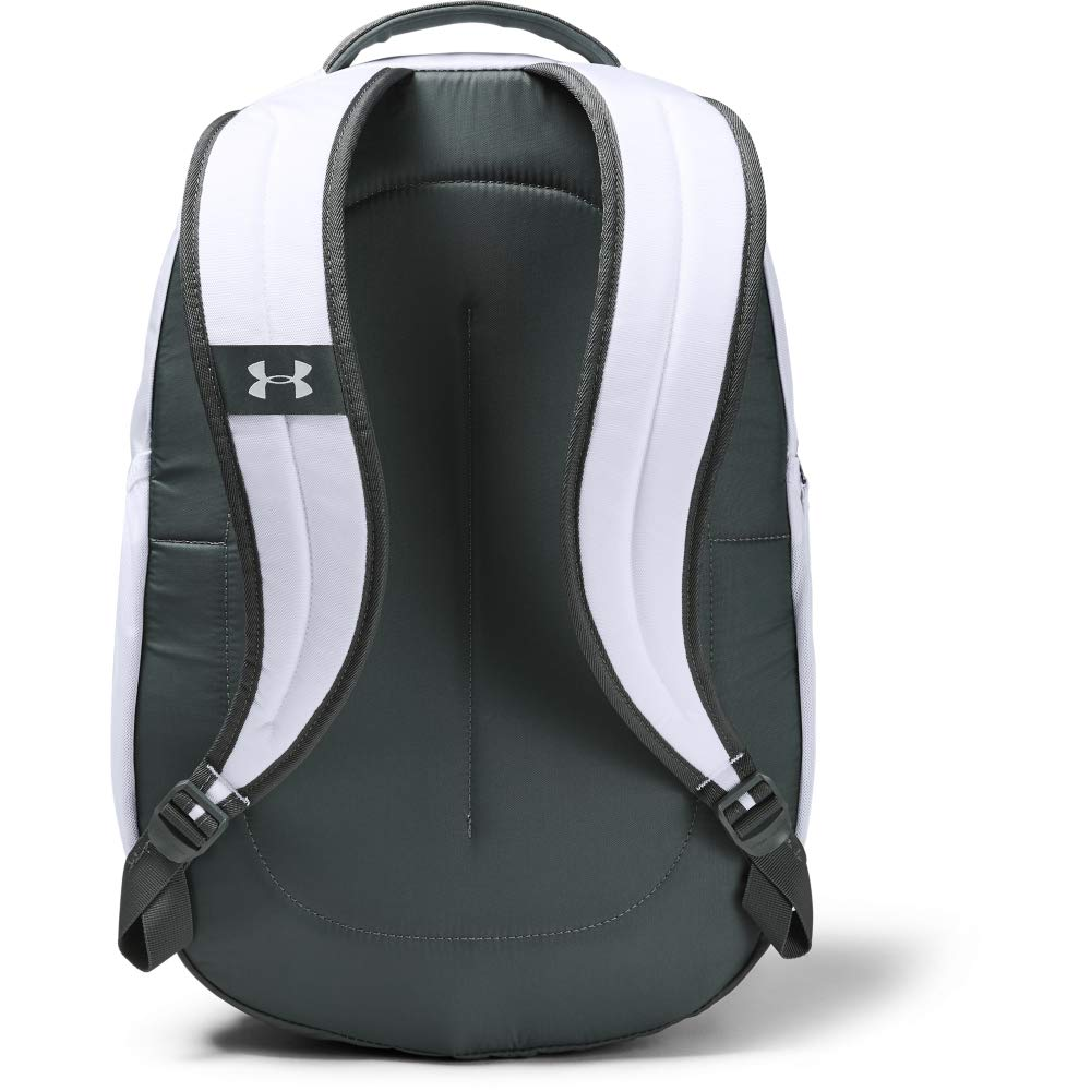 Under Armour Storm Hustle II Backpack, White (100)/Silver, One Size Fits All - backpacks4less.com