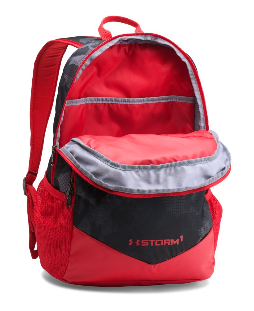 Under Armour Boy's Storm Scrimmage Backpack, Black (002)/Red, One Size - backpacks4less.com