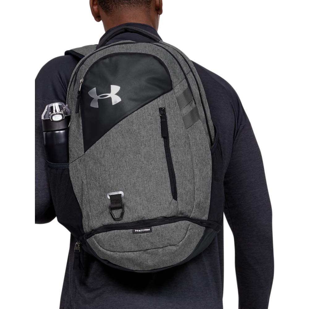 Under Armour Unisex Hustle 4.0 Backpack, Black (002)/Black, One Size Fits All - backpacks4less.com