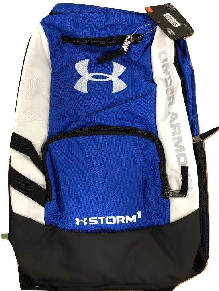 Under Armour Storm Hustle II Backpack, Mechanic Blue (467)/White, One Size Fits All - backpacks4less.com
