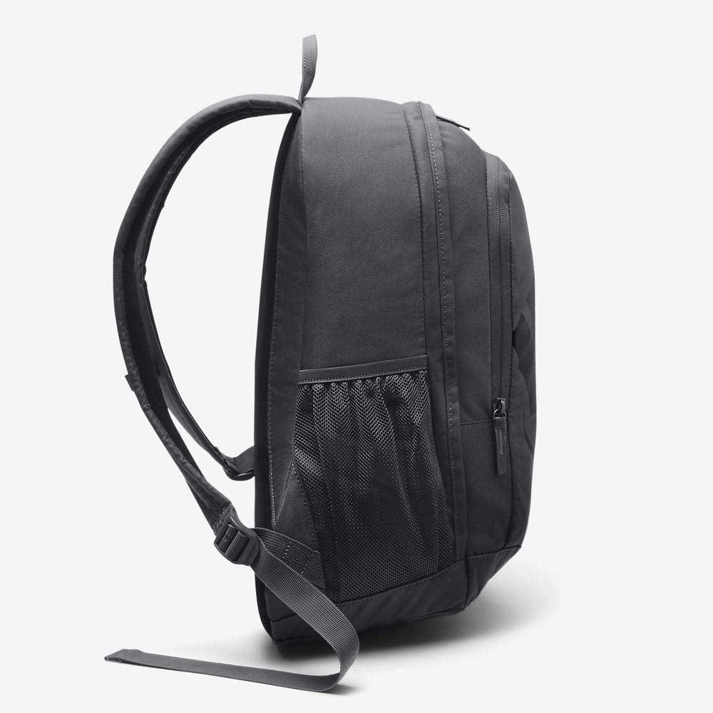 Nike Sportswear Hayward Futura Backpack for Men, Large Backpack with Durable Polyester Shell and Padded Shoulder Straps, Dark Grey/Dark Grey/Black - backpacks4less.com
