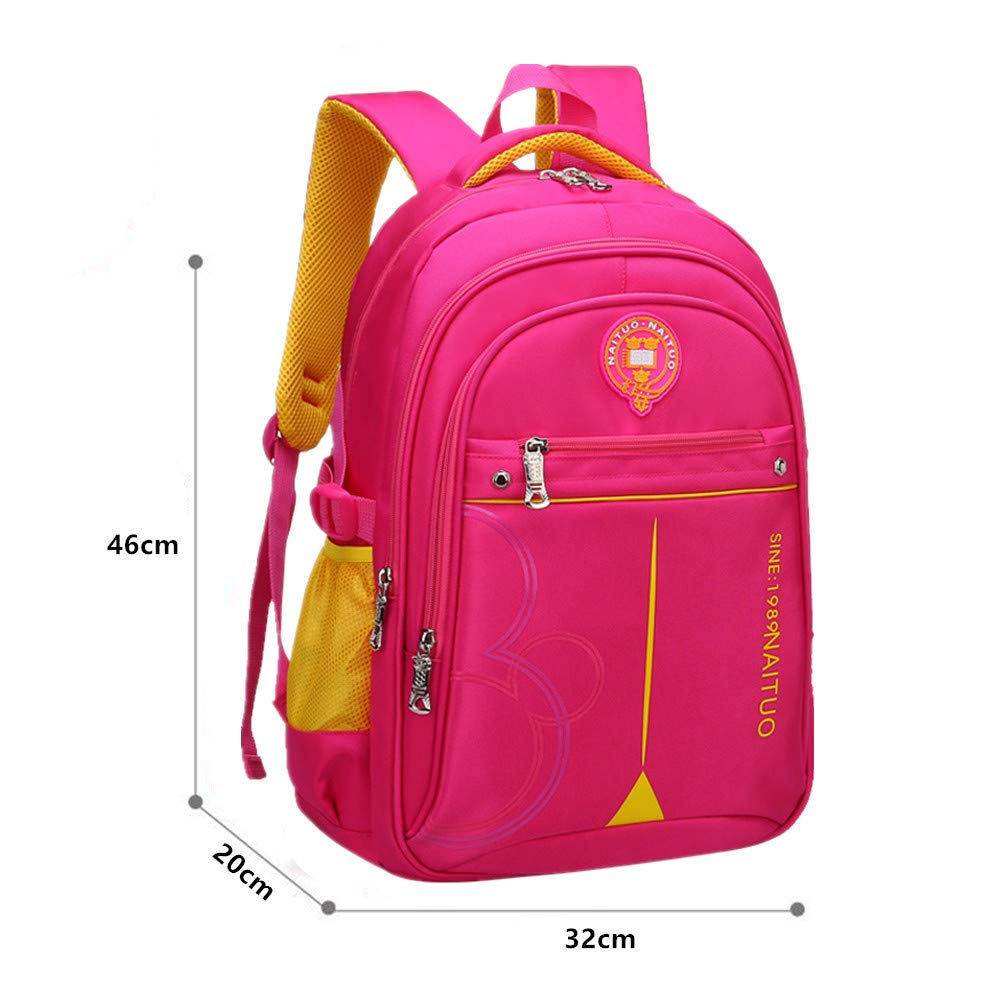 Ladyzone Camo School Backpack Lightweight Schoolbag Travel Camp Outdoor Daypack Bookbag for Your Children (Red 2) - backpacks4less.com