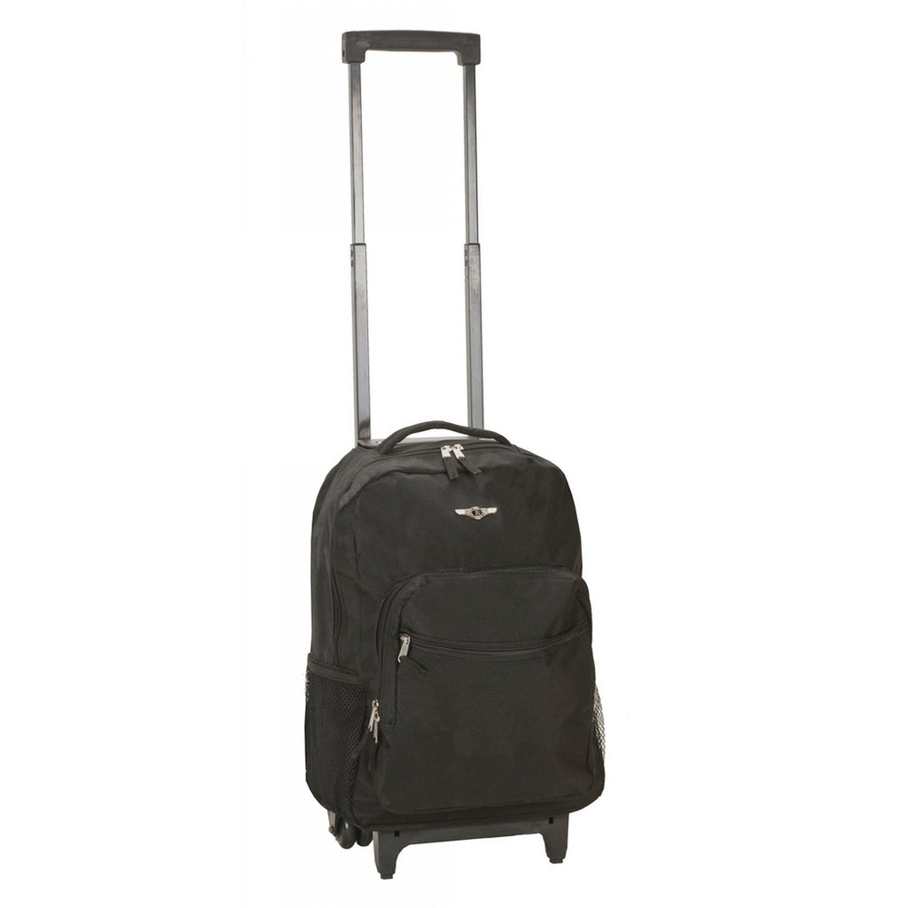 Rockland Luggage 17 Inch Rolling Backpack, BLACK - backpacks4less.com