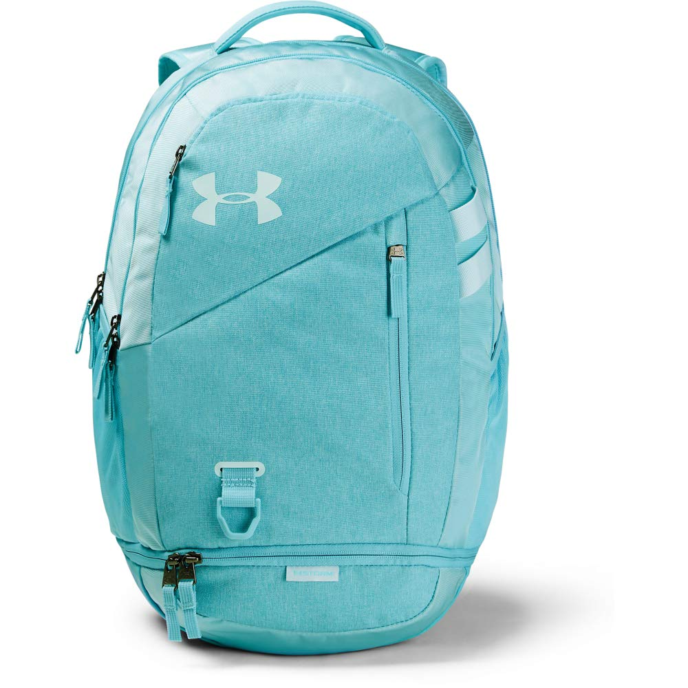 Under Armour Unisex Hustle 4.0 Backpack, Blue Haze (425)/Rift Blue, One Size Fits All - backpacks4less.com