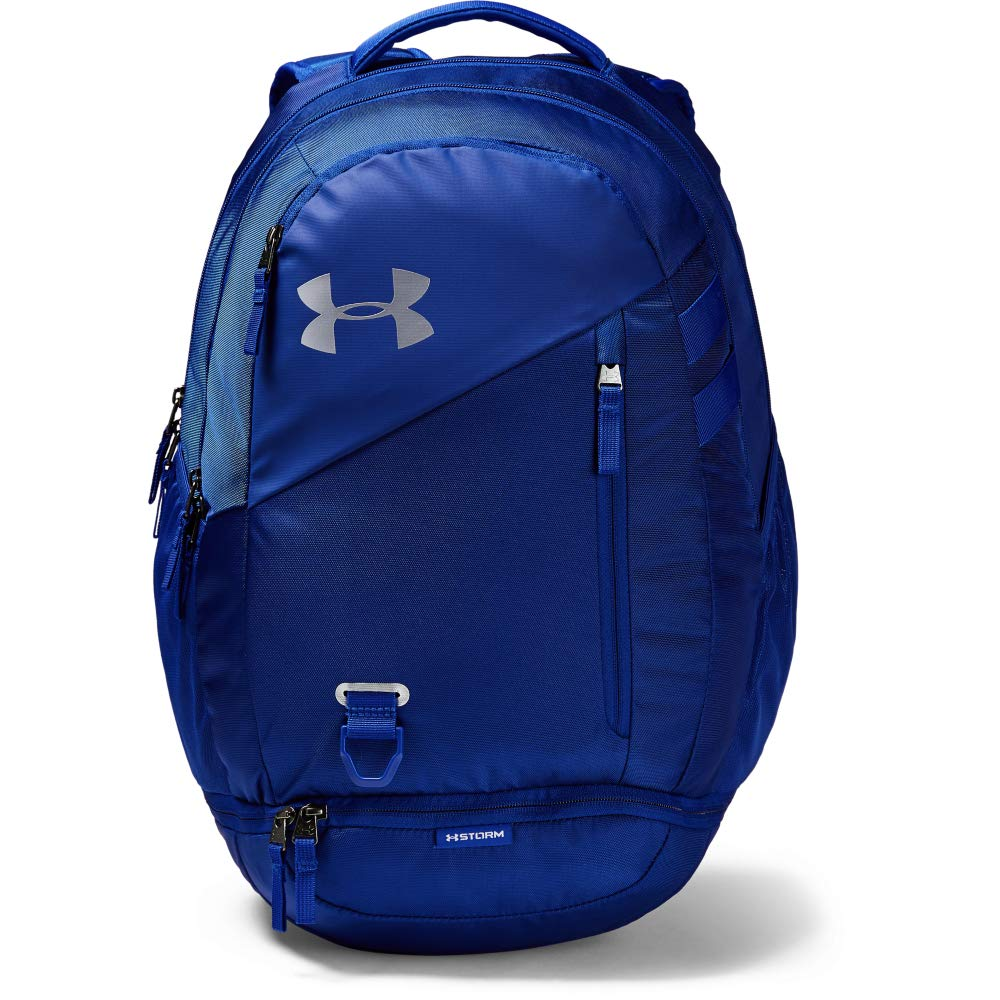 Under Armour Unisex Hustle 4.0 Backpack, Royal (400)/Silver, One Size Fits All - backpacks4less.com