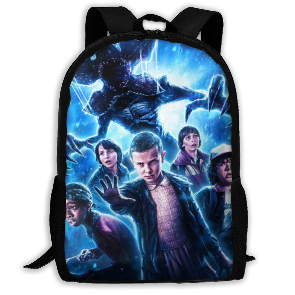 Stranger Things Pattern Backpack, Lightweight Multi-Function College School laptop Bookbag 17 Inches - backpacks4less.com