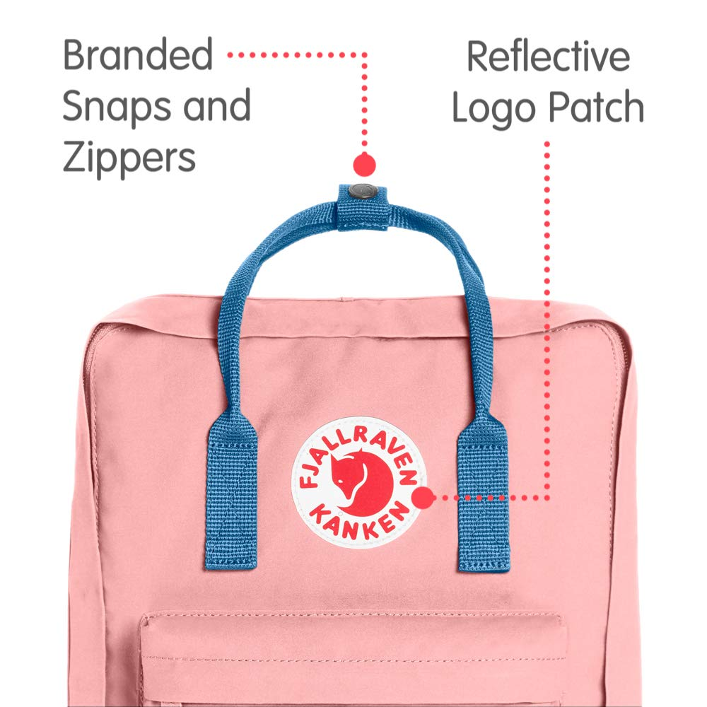 Fjallraven - Kanken Classic Backpack for Everyday, Pink/Air Blue - backpacks4less.com