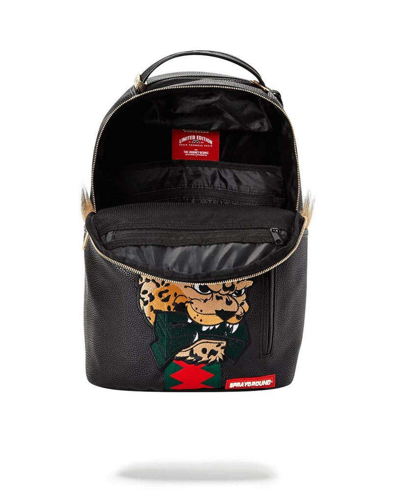 SPRAYGROUND BACKPACK LEOPARD FUR MONEY - backpacks4less.com