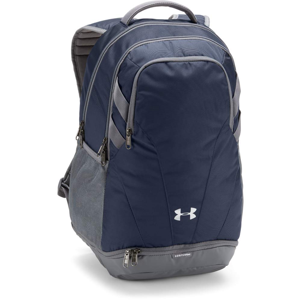 Under Armour Team Hustle 3.0 Backpack, Midnight Navy (410)/Gray, One Size Fits All - backpacks4less.com
