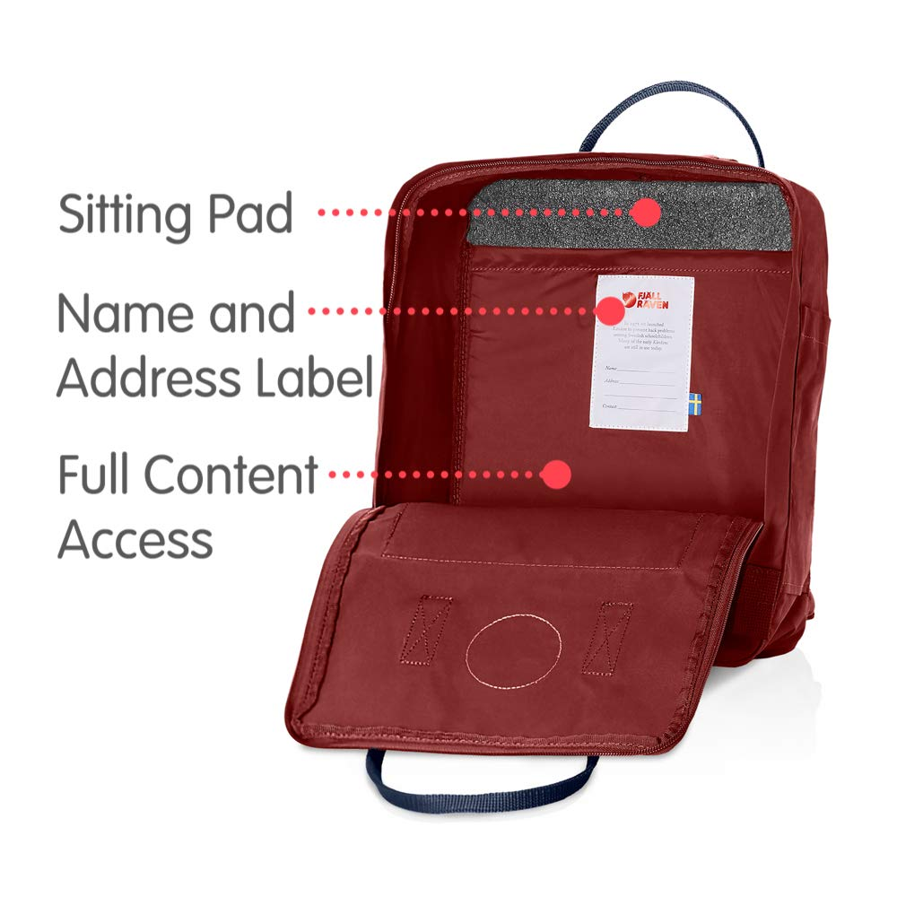 Fjallraven - Kanken Classic Backpack for Everyday, Ox Red/Royal Blue - backpacks4less.com