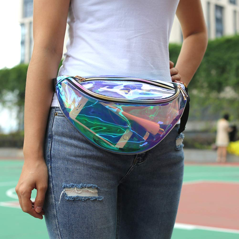 Magicbags Fanny Pack for Women-Holographic Waist Pack for Festival, Party, Travel - backpacks4less.com