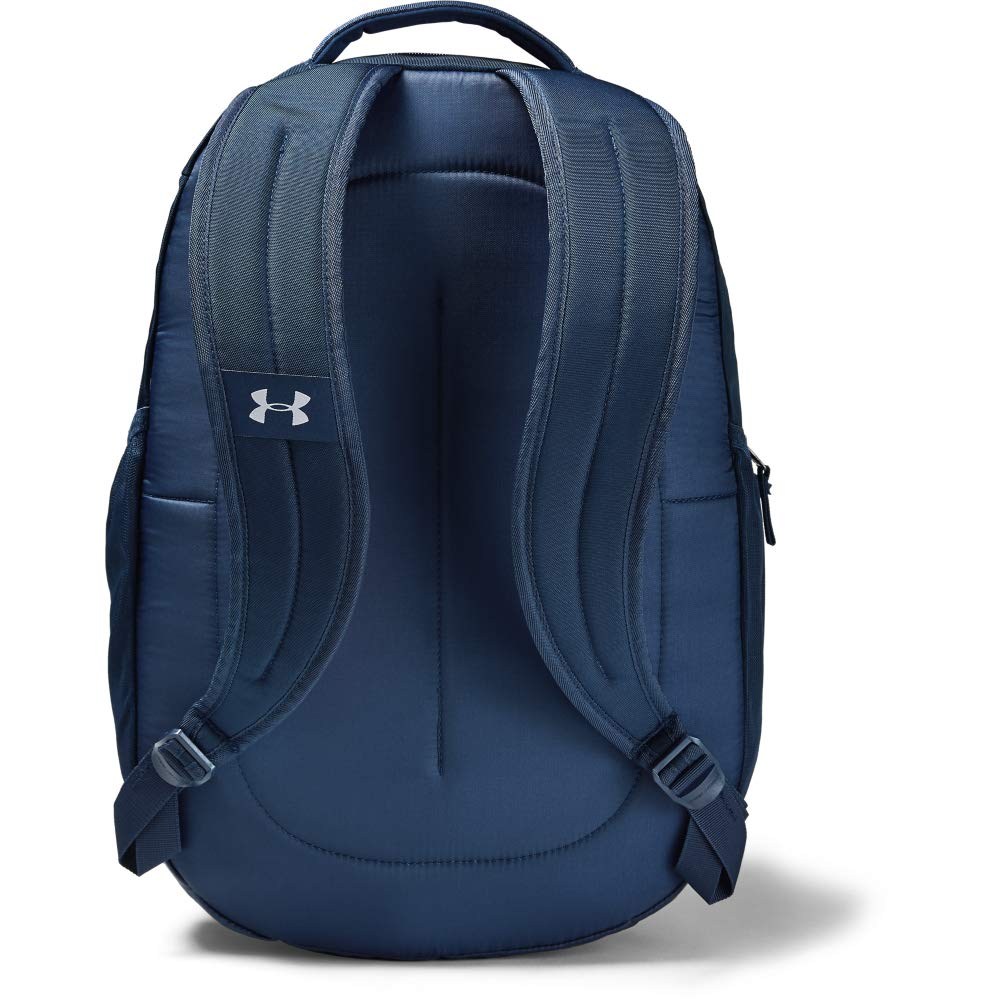 Under Armour Unisex Hustle 4.0 Backpack, Academy (408)/Silver, One Size Fits All - backpacks4less.com