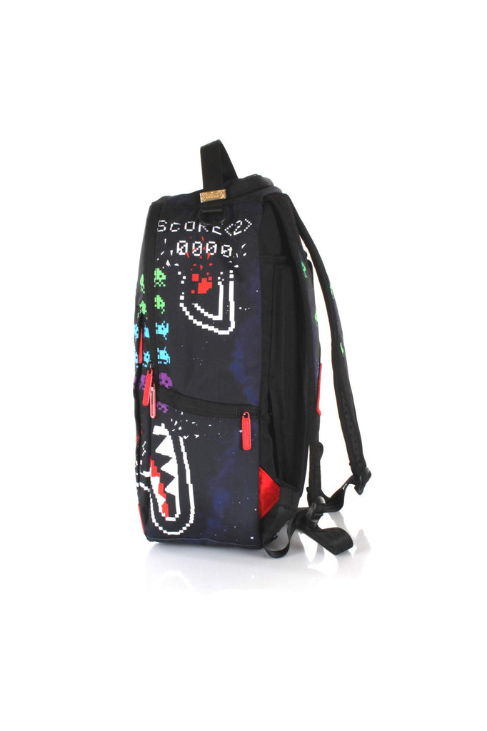 Sprayground - Unisex Adult Shark Space Invaders 40Th Anniversary Backpack, Size: O/S, Color: Multi - backpacks4less.com