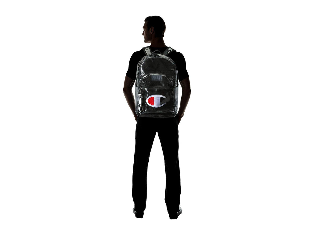 Champion LIFE Supersize Clear Backpack Black One Size - backpacks4less.com