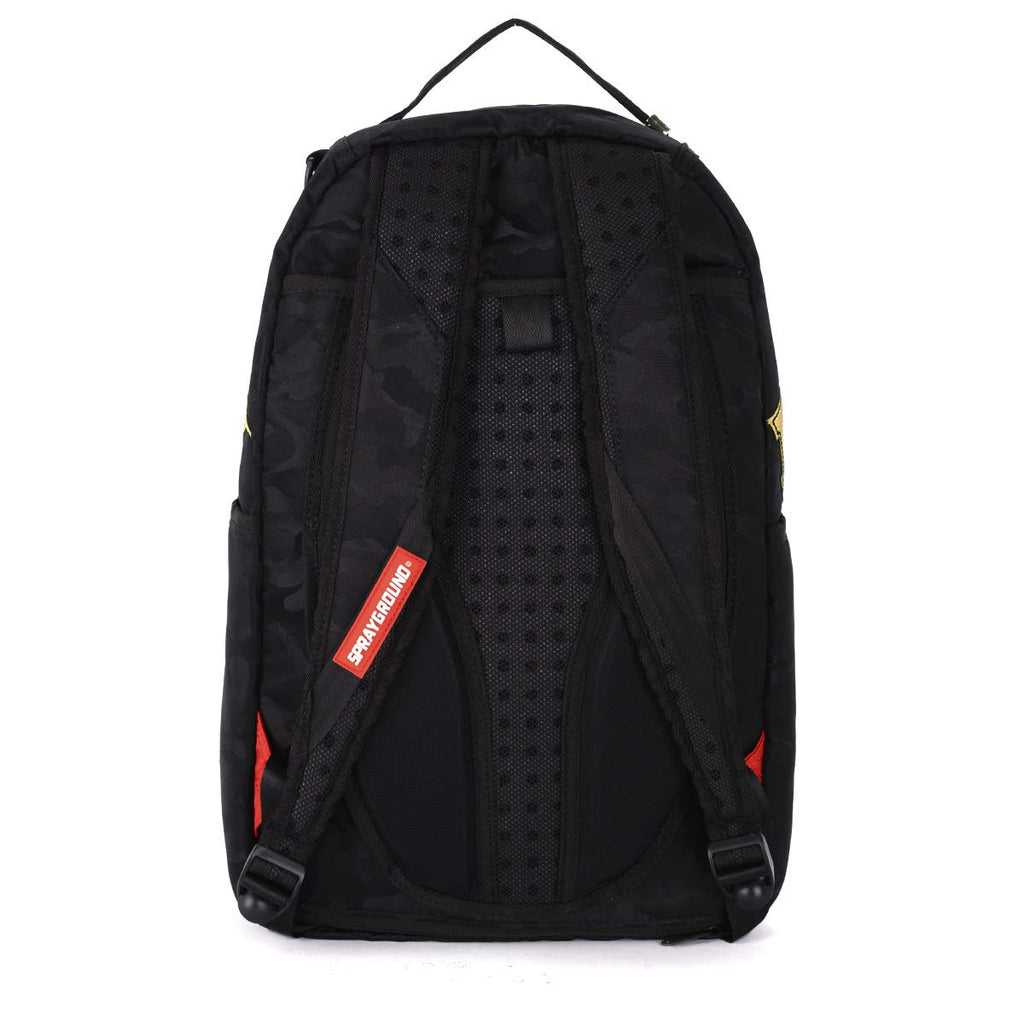 Sprayground Destroy Shark (Gold Camo) - backpacks4less.com