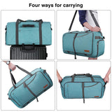 Canway 65L Travel Duffel Bag, Foldable Weekender Bag with Shoes Compartment for Men Women Water-proof & Tear Resistant - backpacks4less.com