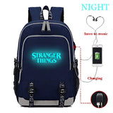 DarkT Stranger Things Backpack, Luminous School Bag, Laptop Backpack With USB Charging Port, Unisex College Daypack - backpacks4less.com