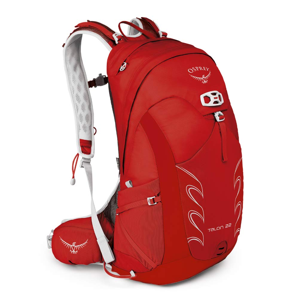 Osprey Packs Talon 22 Men's Hiking Backpack, Small/Medium, Martian Red - backpacks4less.com