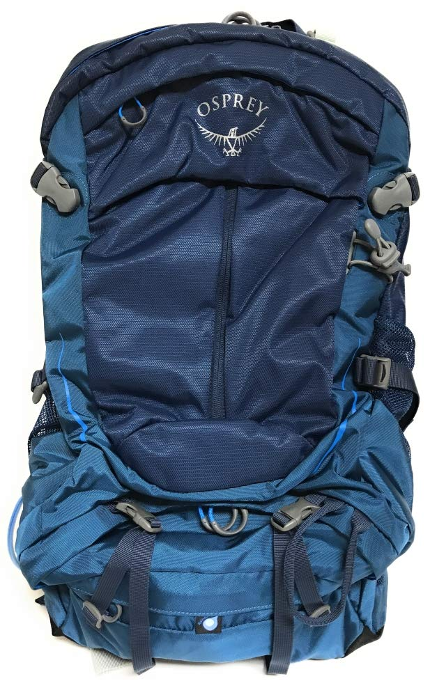 Osprey Packs Stratos 34 Hiking Backpack, Eclipse Blue, Small/Medium - backpacks4less.com
