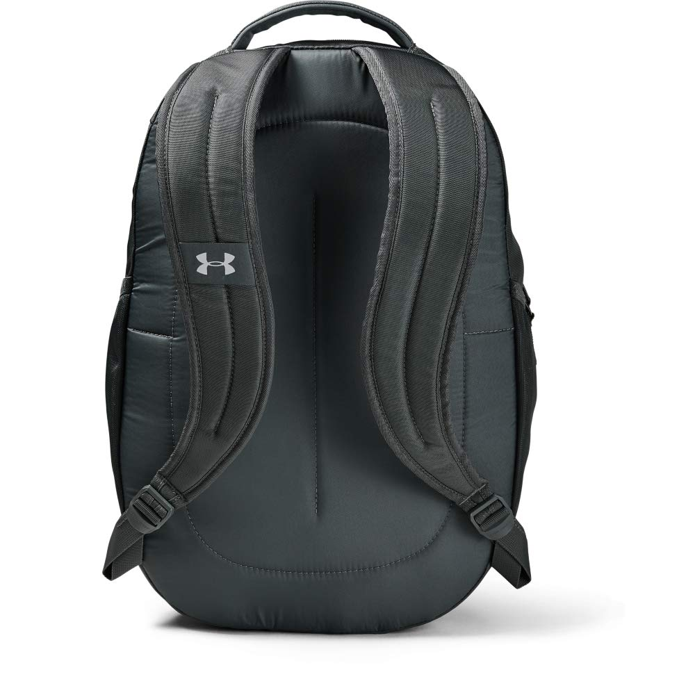 Under Armour Hustle 4.0 Backpack, Pitch Gray (012)/Silver, One Size Fits All - backpacks4less.com