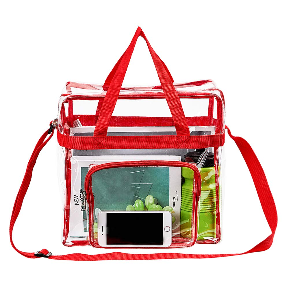 See Through Security Handbag for Women Work Sports Games School Stadium Approved Clear Tote Bag Concerts