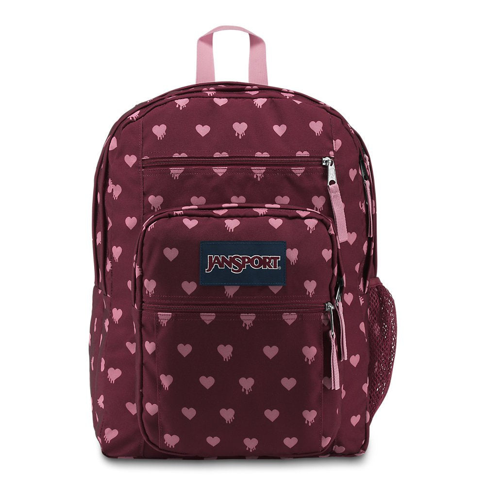 JanSport Big Student Backpack - Russet Red Bleeding Hearts - Oversized - backpacks4less.com