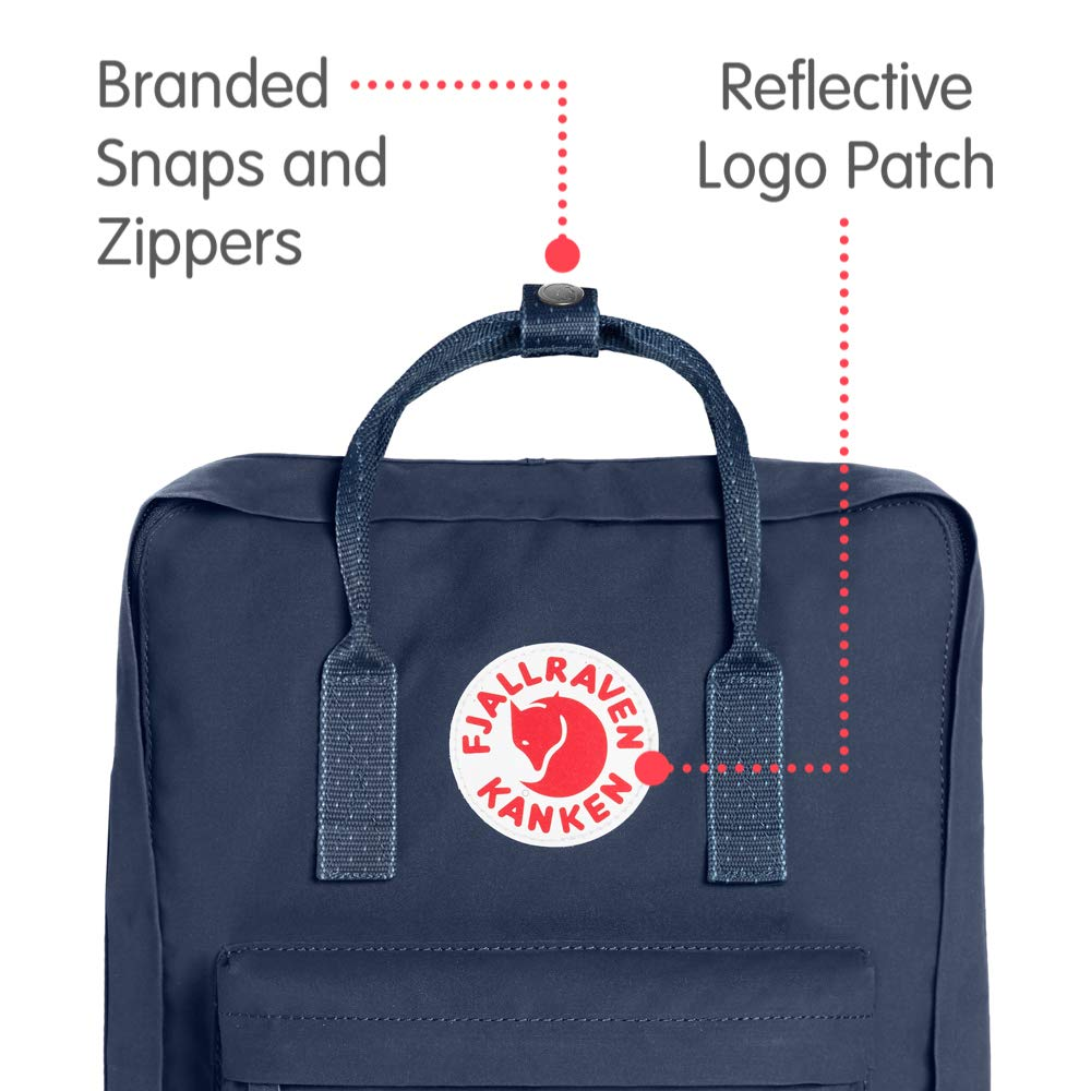 Fjallraven - Kanken Classic Backpack for Everyday, Royal Blue/Pinstripe Pattern - backpacks4less.com