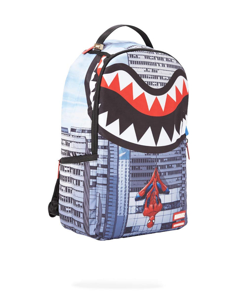 SPRAYGROUND BACKPACK SPIDERMAN UPSIDE DOWN SHARK - backpacks4less.com