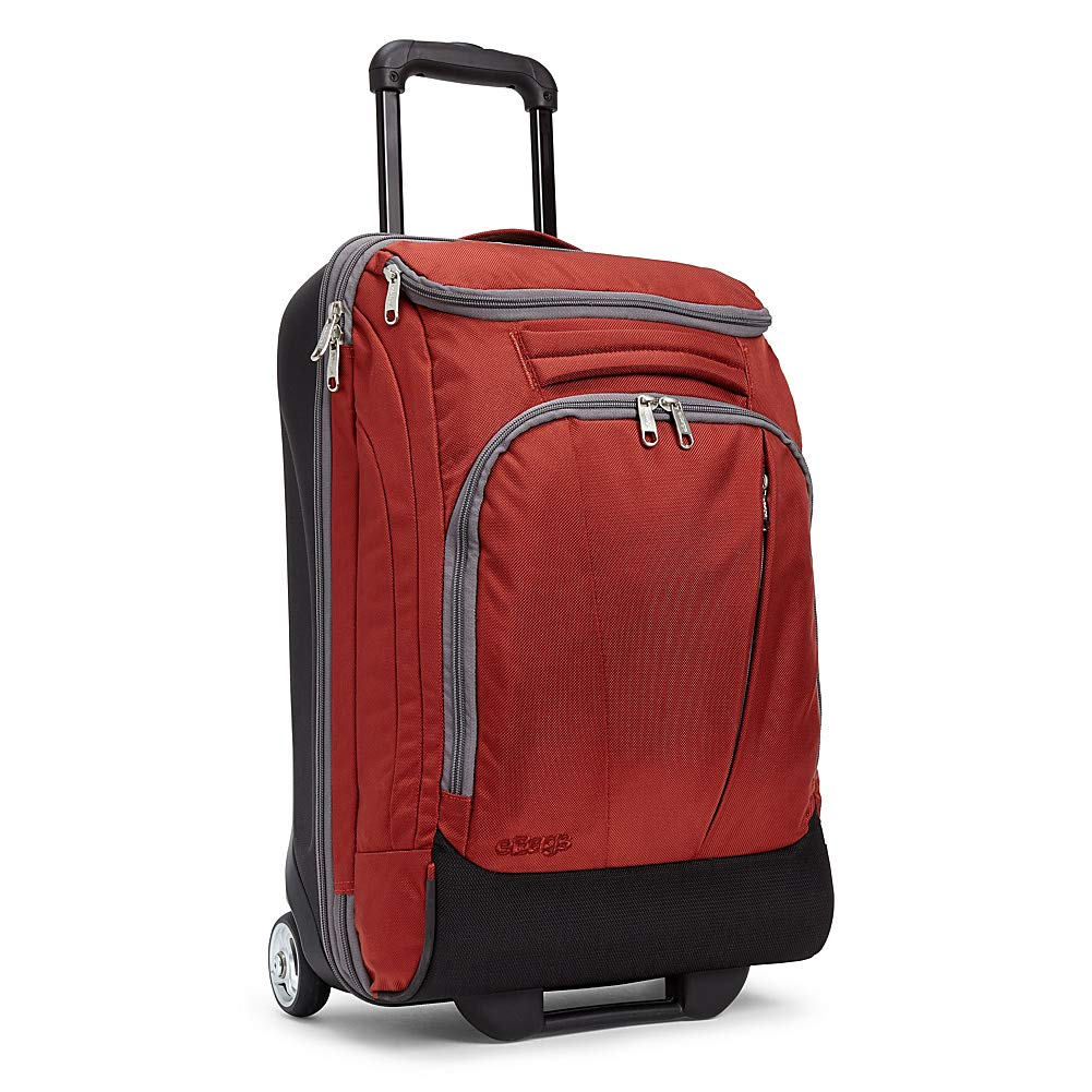 "eBags TLS Mother Lode Mini 21"" Wheeled Duffel Bag Luggage - Carry-On - (Sinful Red) - backpacks4less.com"
