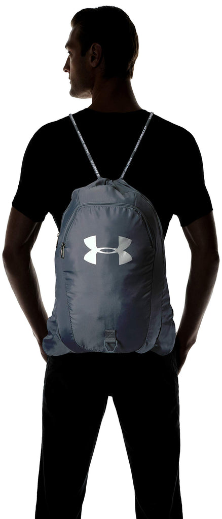 Under Armour Undeniable 2.0 Sackpack, Pitch Gray (012)/Silver, One Size Fits All - backpacks4less.com
