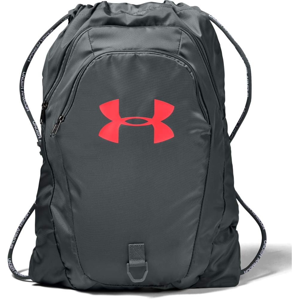 Under Armour Undeniable 2.0 Sackpack, Pitch Gray (013)/Beta Red, One Size Fits All - backpacks4less.com