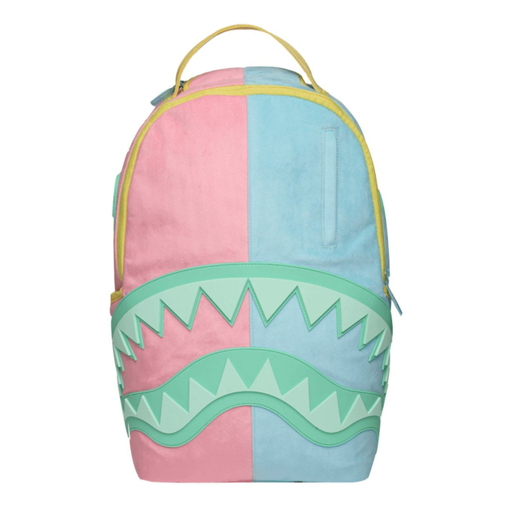 SPRAYGROUND Pastel Rubber Shark Backpack | Pink/Blue (910B1437NSZ) - backpacks4less.com