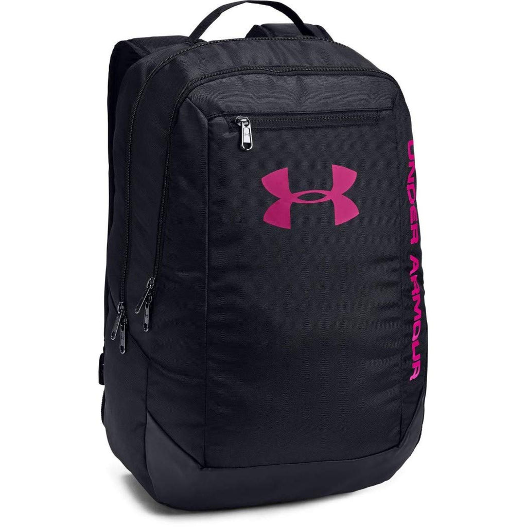 Under Armour Men's Hustle LD Water Resistant Backpack Laptop, Black (005), One Size - backpacks4less.com