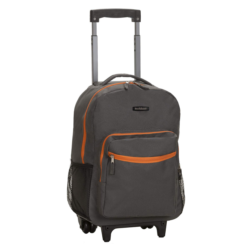 Rockland Luggage 17 Inch Rolling Backpack, Charcoal, One Size - backpacks4less.com