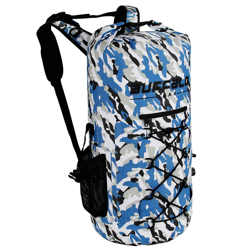 Buffalo Gear Portable Insulated Backpack Cooler Bag - Hands-Free and Collapsible, Waterproof and Soft-Sided Cooler Backpack for Hiking, Picnics,Camping, Fishing - Camouflage,35 Liters,30 Can - backpacks4less.com