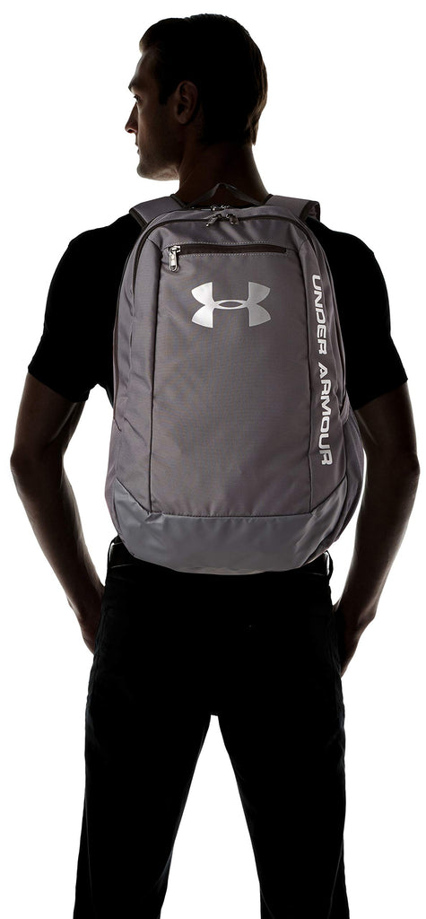 Under Armour Men's Hustle LD Water Resistant Backpack Laptop, Graphite (040), One Size - backpacks4less.com