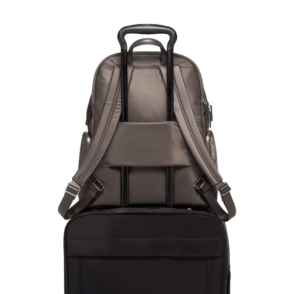 TUMI - Voyageur Carson Laptop Backpack - 15 Inch Computer Bag for Women - Mink/Silver - backpacks4less.com