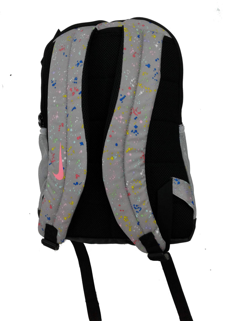 Nike Youth Nike Brasilia Backpack All Over Print Ho19, Atmosphere Grey/Bleached Coral, Misc - backpacks4less.com